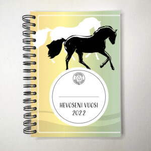 Hevoseni vuosi -kalenterin sateenkaaren värinen kansi